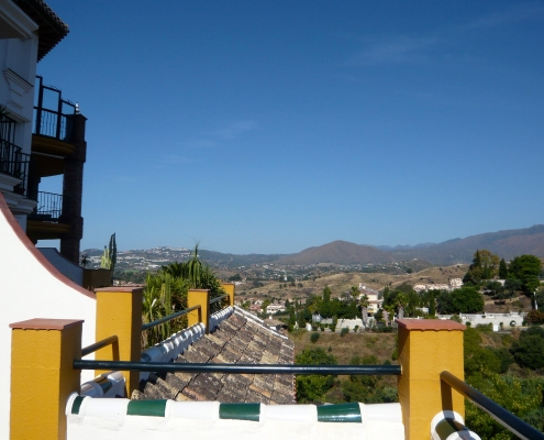 Unspoilt views from houses for sale in Puebla Aida mijas costa